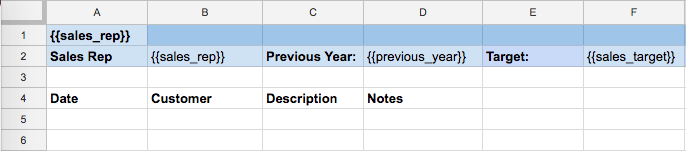Google Spreadsheets template sheet copy